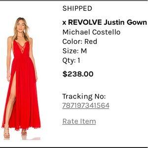 REVOLVE Michael Costello Red Slit Dress